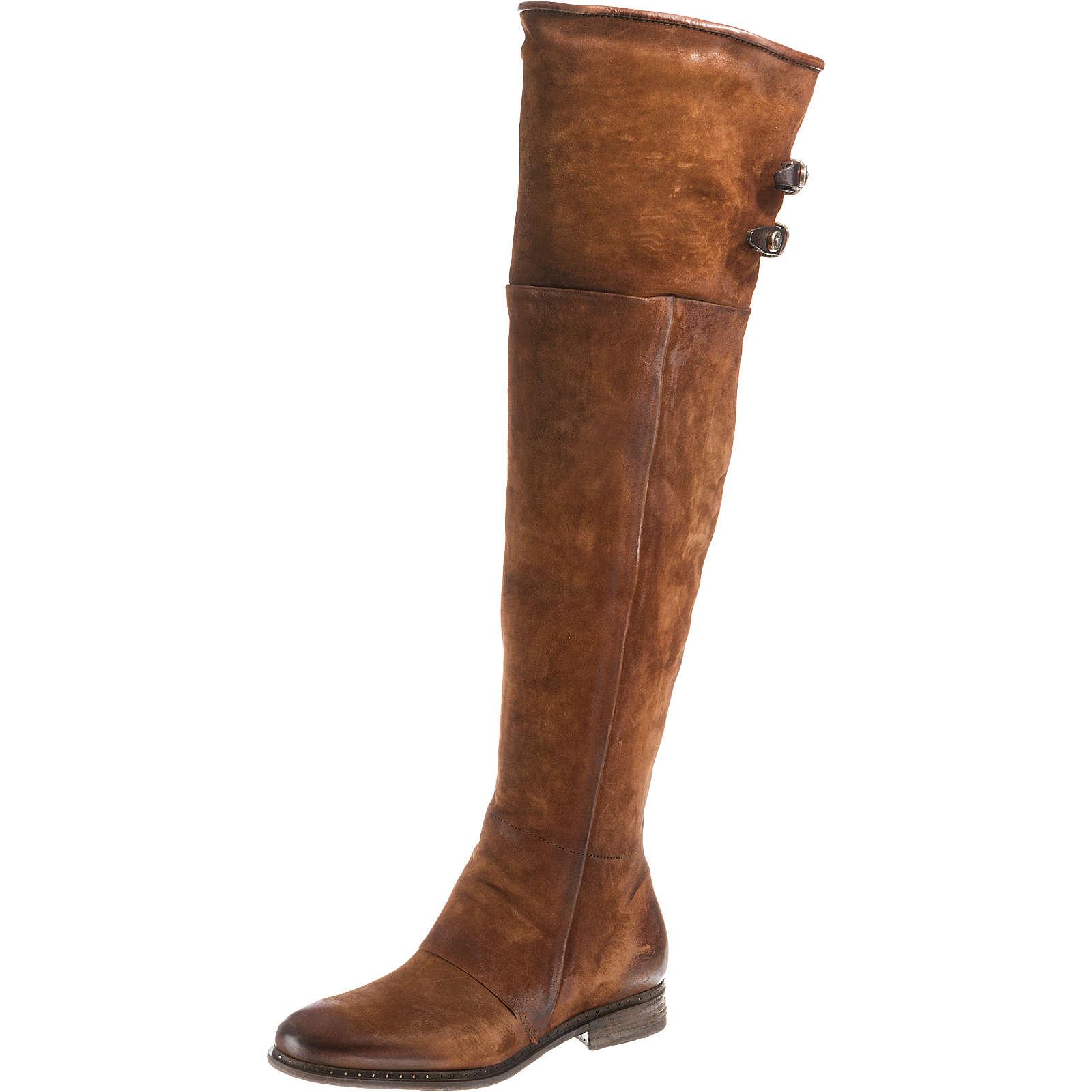 A.S.98 Overknee-Stiefel braun-kombi Damen Gr. 36