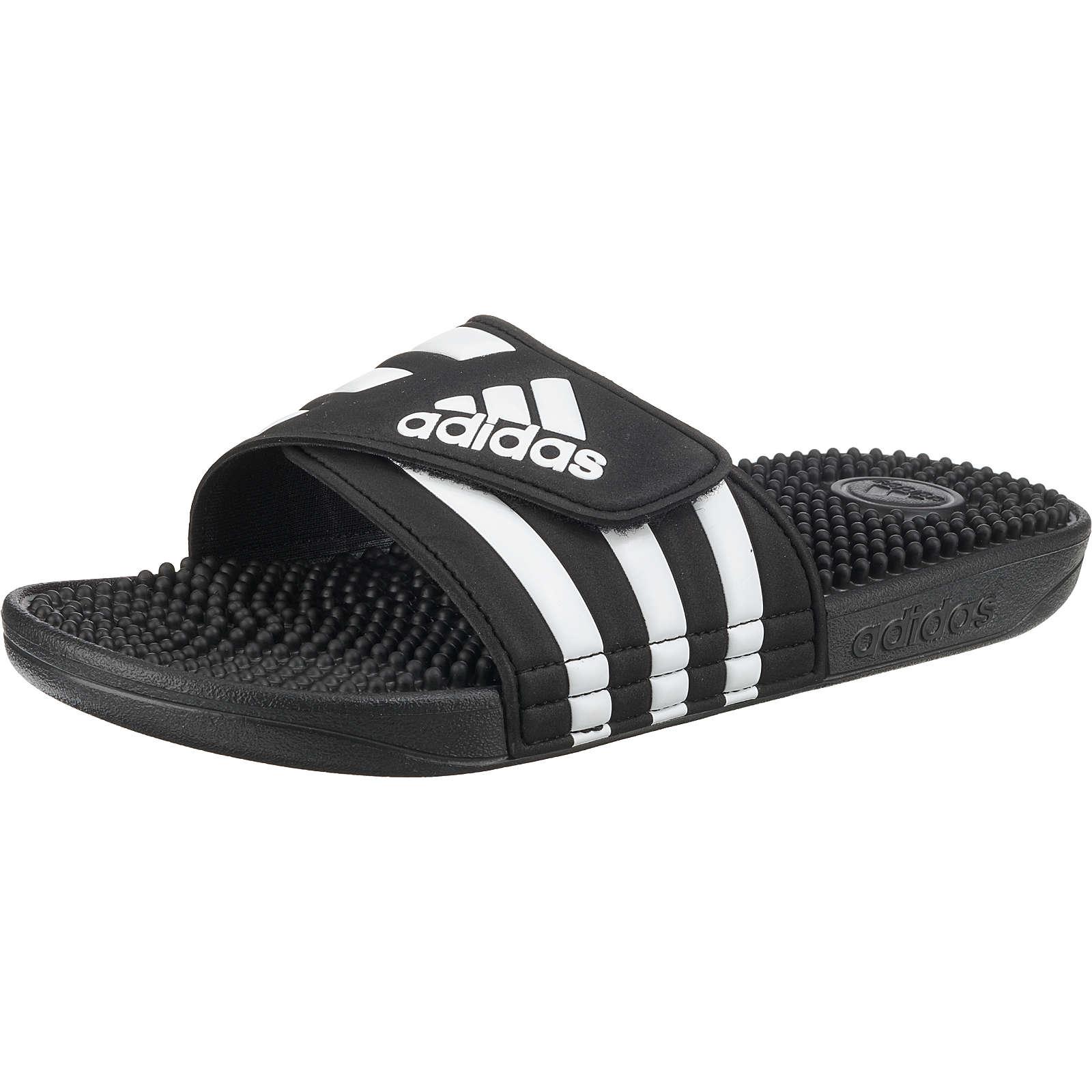adidas Performance ADISSAGE Badelatschen schwarz Damen Gr. 38