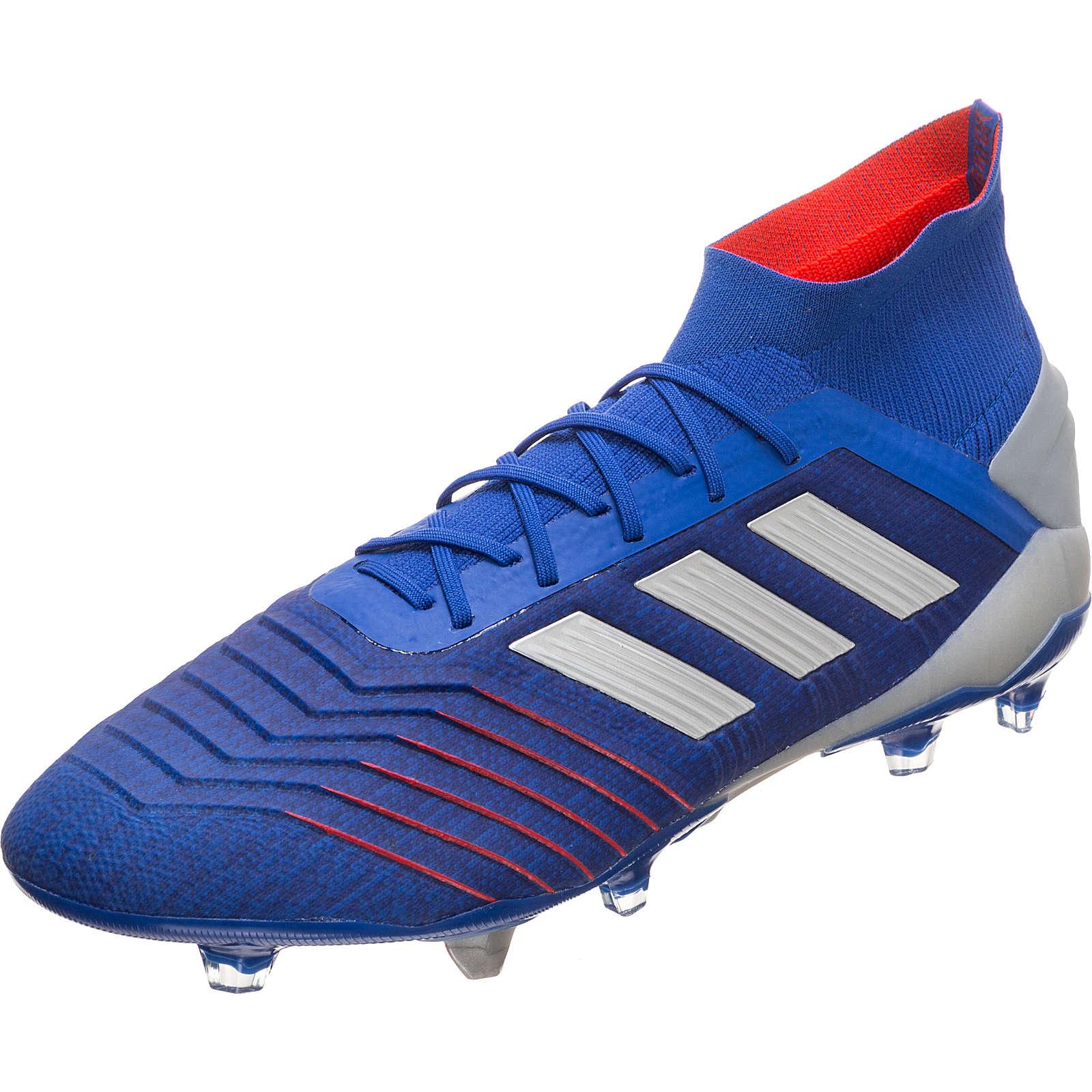 adidas Performance Predator 19.1 FG Fußballschuh Herren blau/silber Herren Gr. 42 2/3