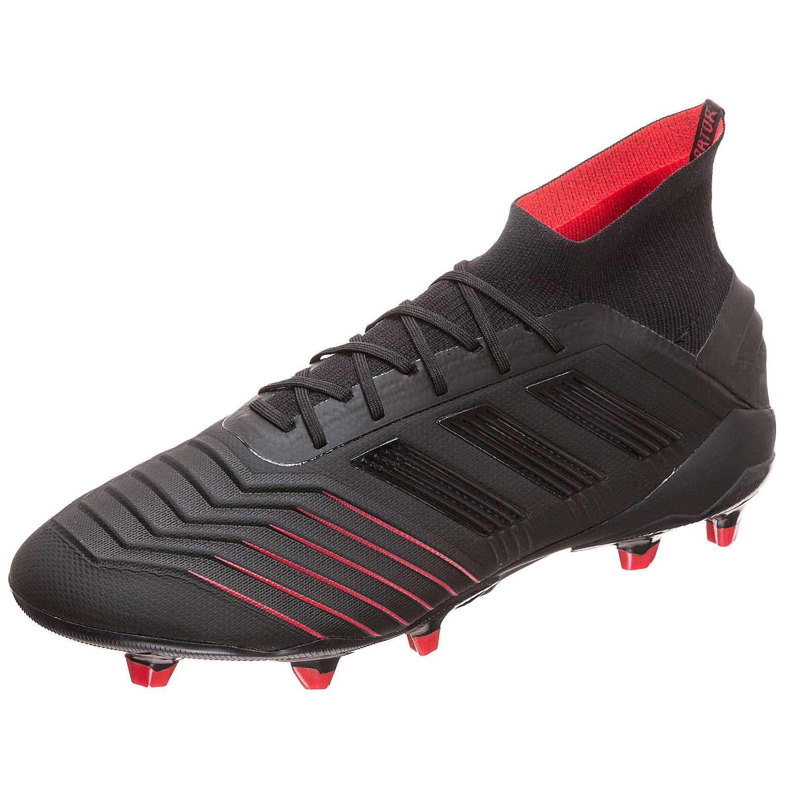 adidas Performance Predator 19.1 FG Fußballschuh Herren schwarz/rot Herren Gr. 41 1/3