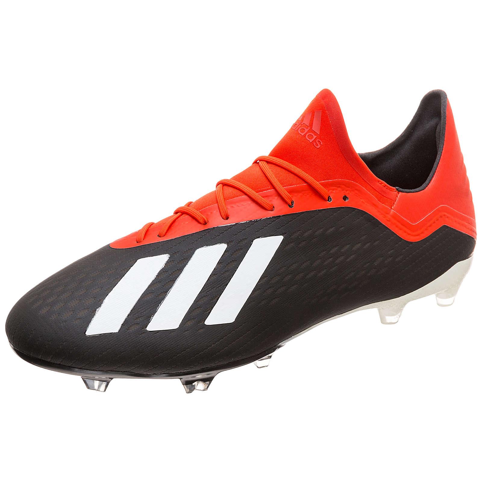 adidas Performance X 18.2 FG Fußballschuh Herren schwarz/rot Herren Gr. 48 2/3