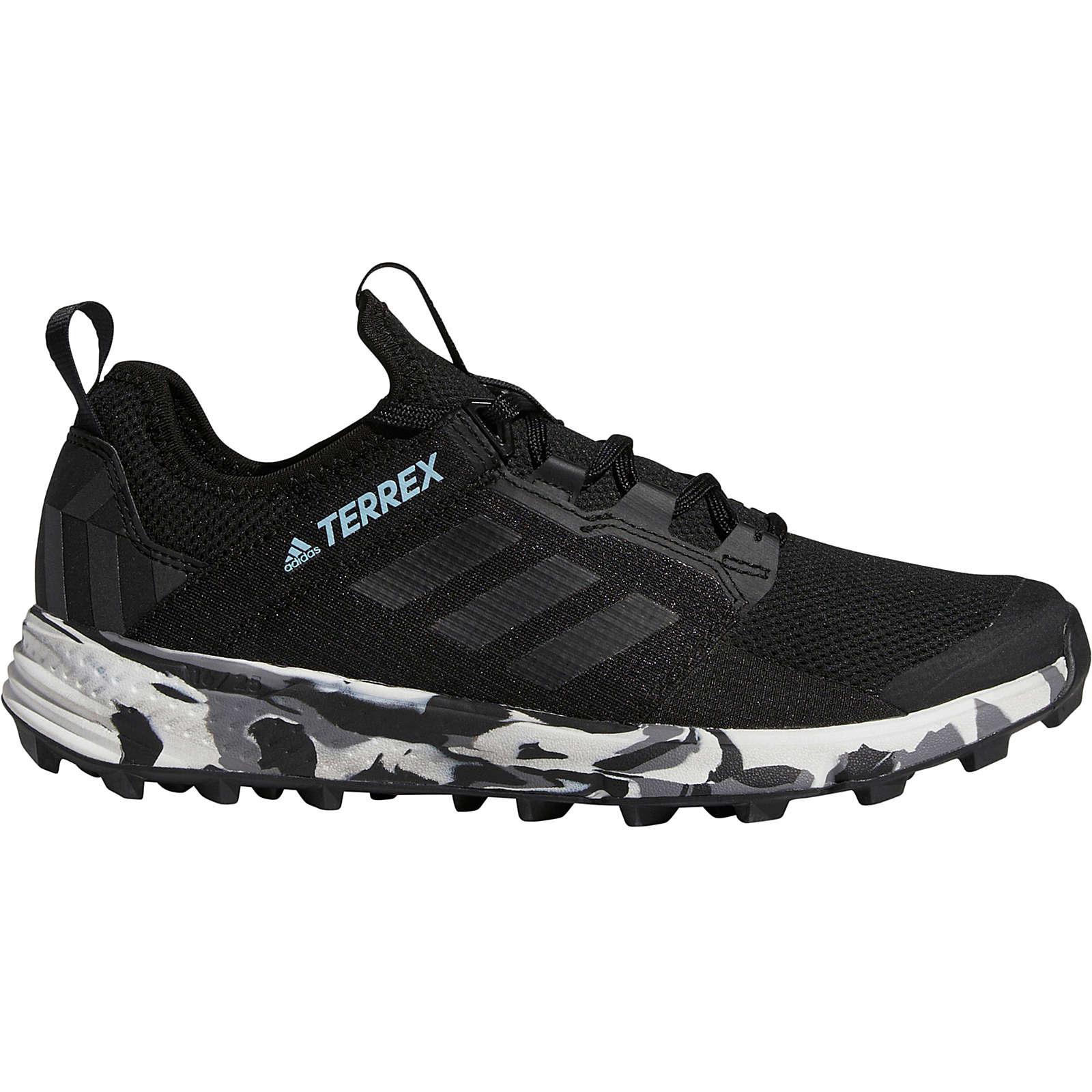 adidas TERREX Mountain Running Schuhe Agravic Speed+ Laufschuhe schwarz Damen Gr. 37 1/3