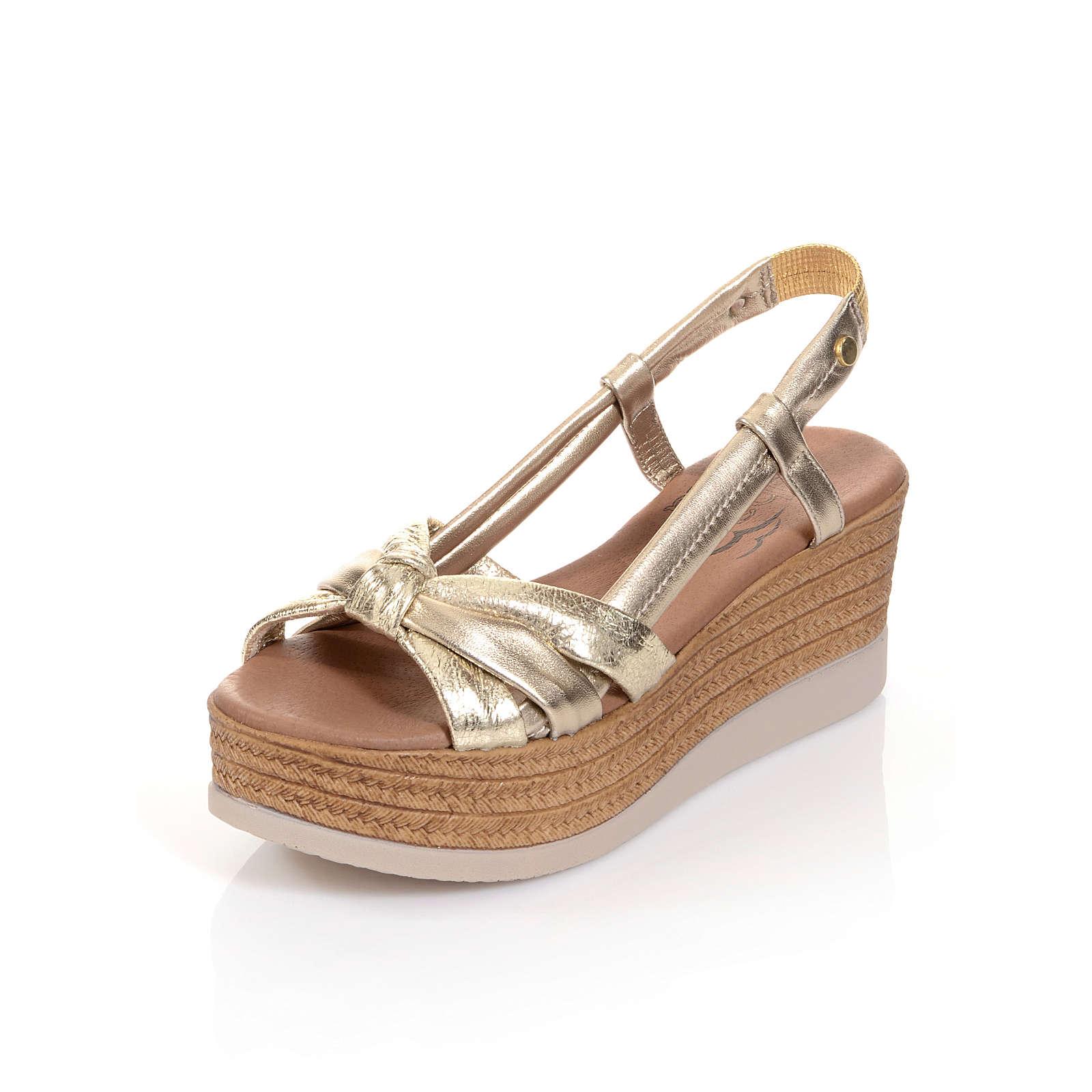 Alba Moda Klassische Sandaletten gold Damen Gr. 41