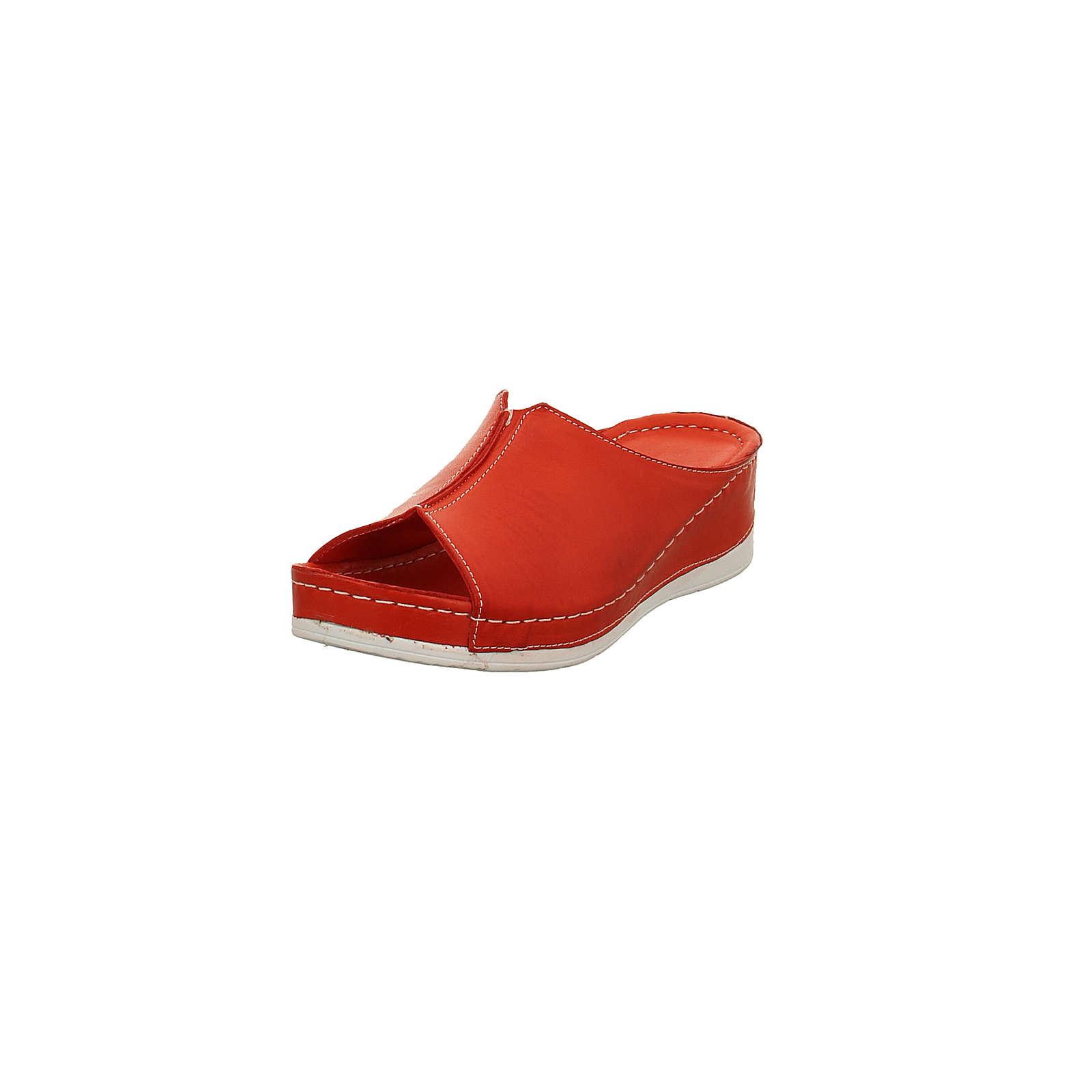 Andrea Conti Damen Pantolette – Glattleder in rot – 0027822-021 Pantoletten rot-kombi Damen Gr. 37