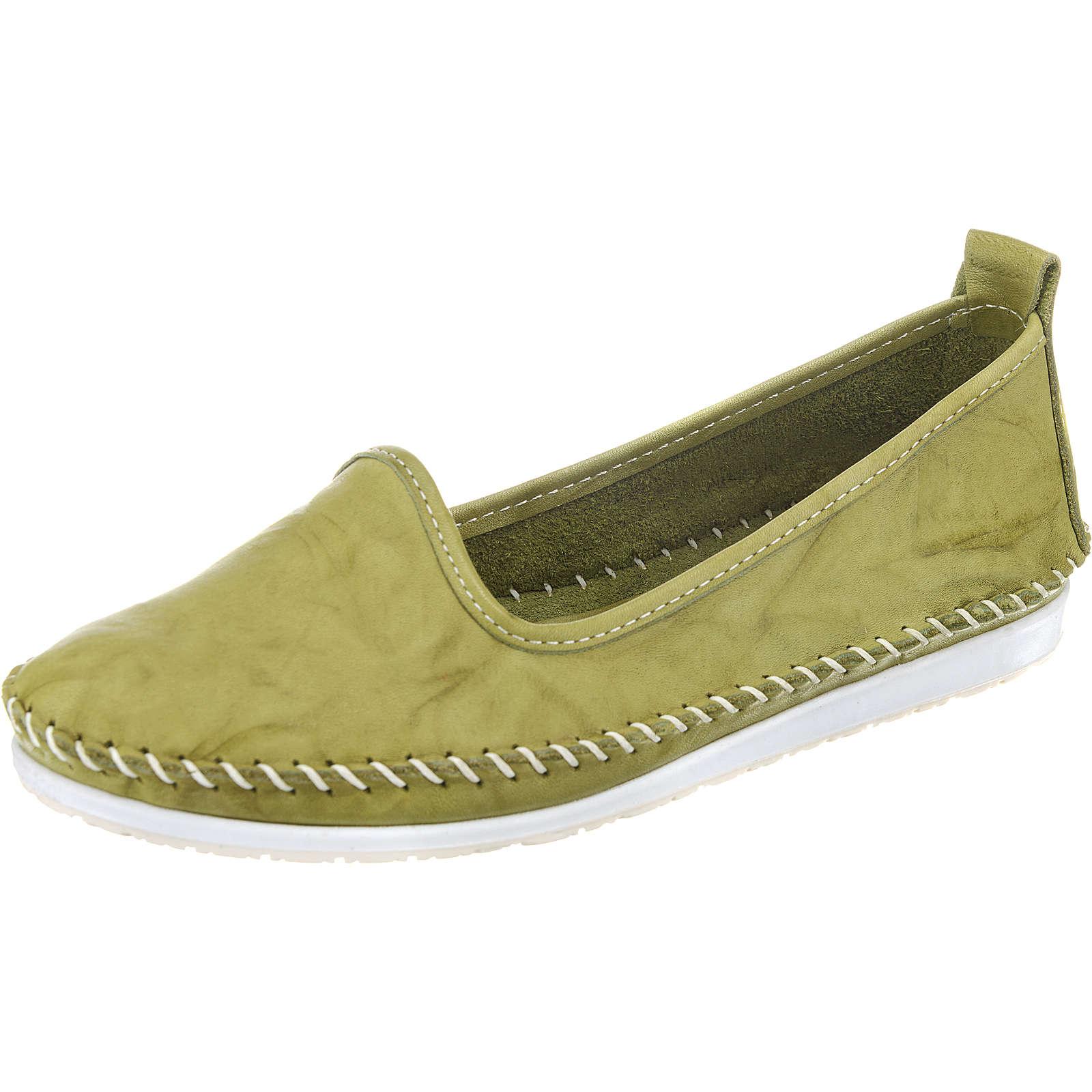 Andrea Conti Komfort-Slipper grün Damen Gr. 37