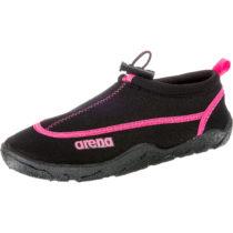 ARENA Bow Badeschuhe schwarz/pink Damen Gr. 37