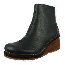 *art Leder Keil-Stiefelette Ankle Boot Tampere 1460 Black Schwarz Klassische Stiefeletten schwarz Damen Gr. 38