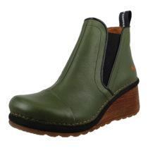 *art Leder Keil-Stiefelette Ankle Boot Tampere 1462 Khaki Grün Klassische Stiefeletten grün Damen Gr. 38
