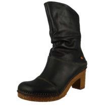 *art Leder Stiefel Amsterdam 0330 Black Schwarz mit schöner Raffung Klassische Stiefel schwarz Damen Gr. 37