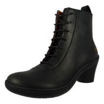 *art Leder Stiefelette Ankle Boot Alfma Black Schwarz 1444 Schnürstiefeletten schwarz Damen Gr. 40