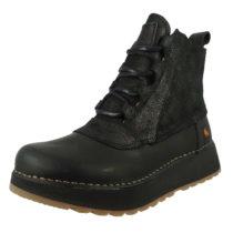 *art Leder Stiefelette Ankle Boot Heathrow 1019 Schwarz Black Night Schnürstiefeletten schwarz Damen Gr. 41