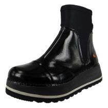 *art Leder Stiefelette Ankle Boot Heathrow XL F/C 1044 Schwarz Black Lackoptik Klassische Stiefeletten schwarz Damen Gr. 40