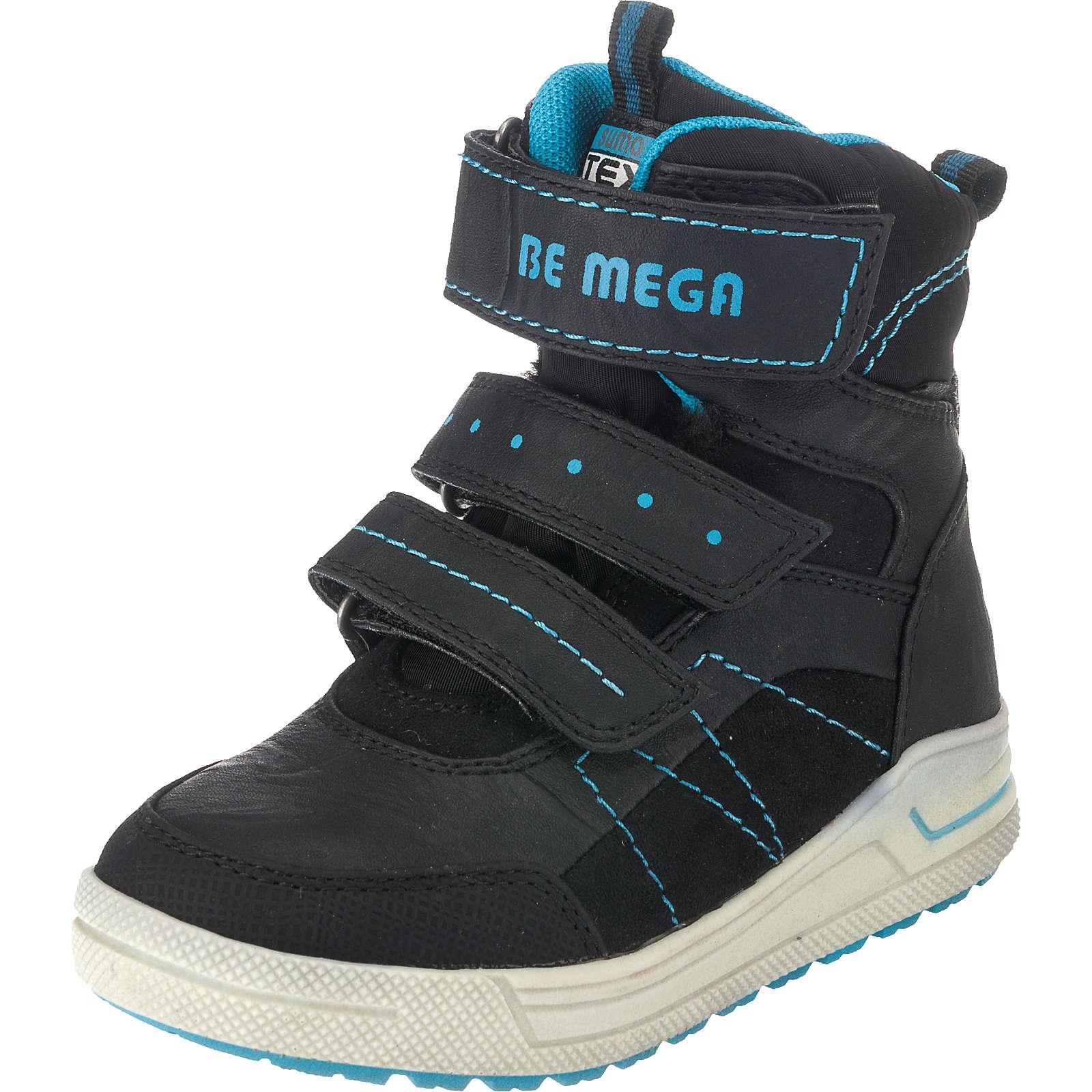 Be Mega Winterstiefel für Jungen, TEX schwarz Junge Gr. 33