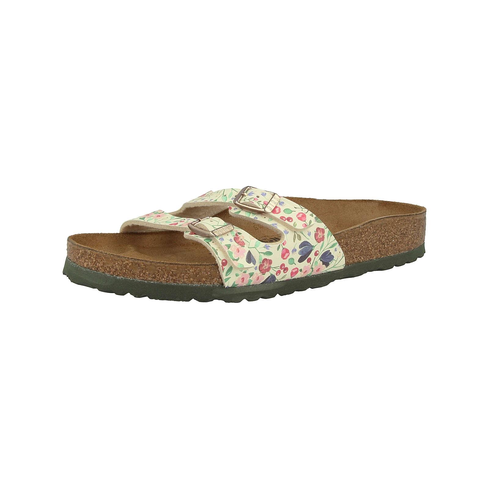 BIRKENSTOCK Schuhe Ibiza Birko-Flor schmal Pantoletten grün Damen Gr. 37