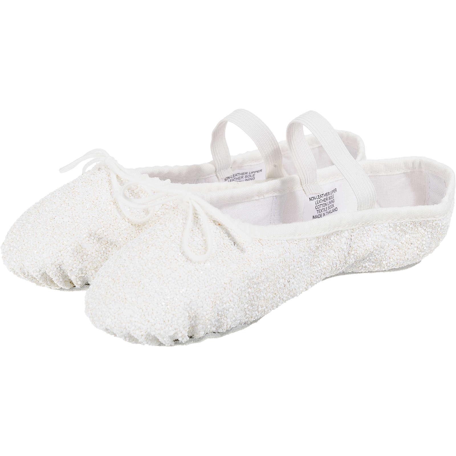 BLOCH Kinder Glitzer Ballettschuhe weiß Mädchen Gr. 24