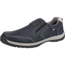 BM Footwear Klassische Slipper blau Herren Gr. 41