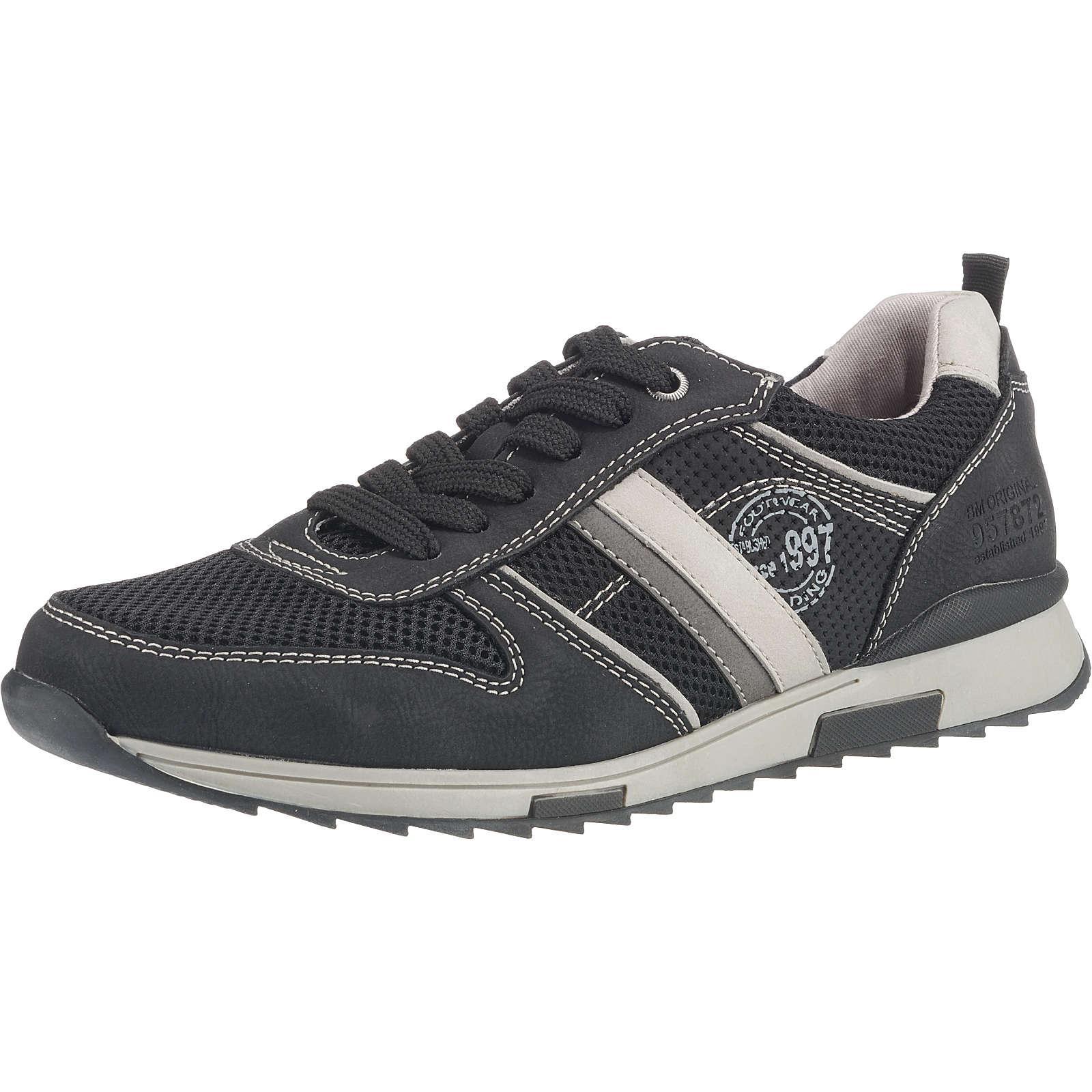 BM Footwear Schnürschuhe schwarz Herren Gr. 41