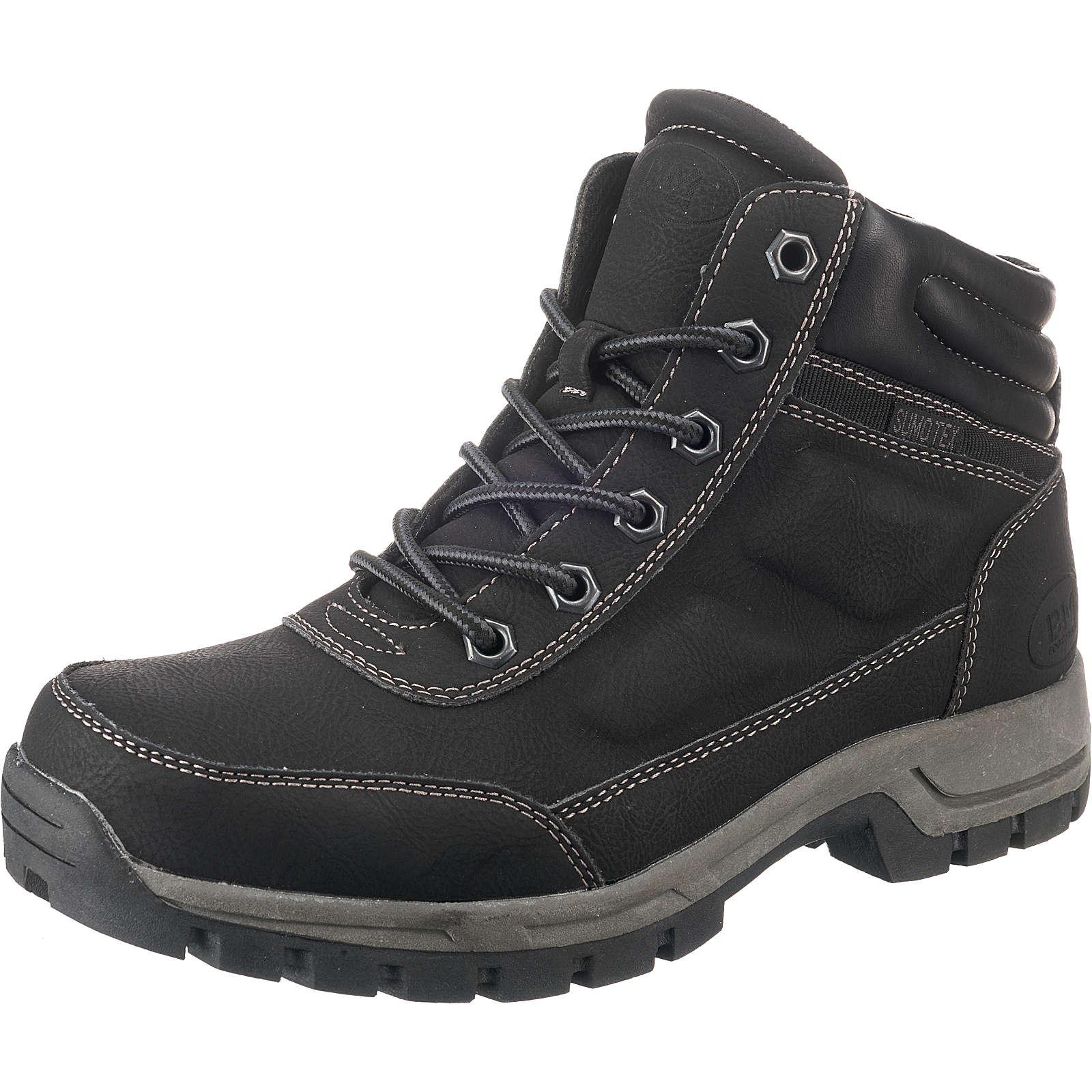 BM Footwear Schnürstiefeletten schwarz Herren Gr. 41