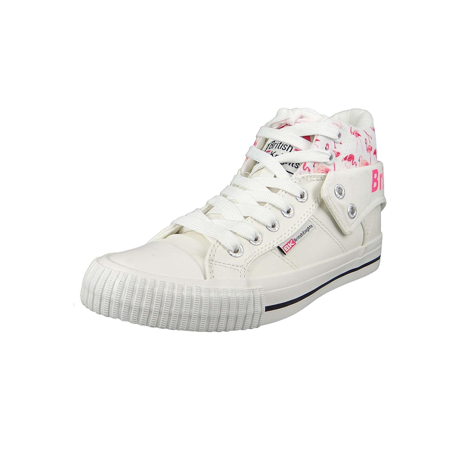 British Knights Sneaker B43-3704-01 White Pink Flamingo Weiss Sneakers High weiß Damen Gr. 36