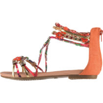 BUFFALO Elora Klassische Sandalen orange-kombi Damen Gr. 36