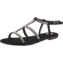 BUFFALO Emira T-Steg-Sandalen schwarz Damen Gr. 36