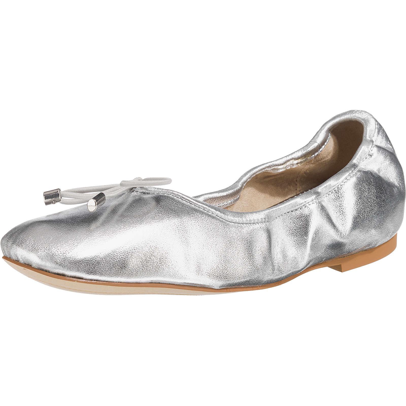 BUFFALO Faltbare Ballerinas silber Damen Gr. 38