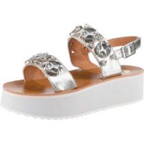 BUFFALO Klassische Sandalen silber Damen Gr. 40
