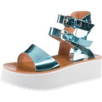 BUFFALO Klassische Sandaletten metallicblau Damen Gr. 39