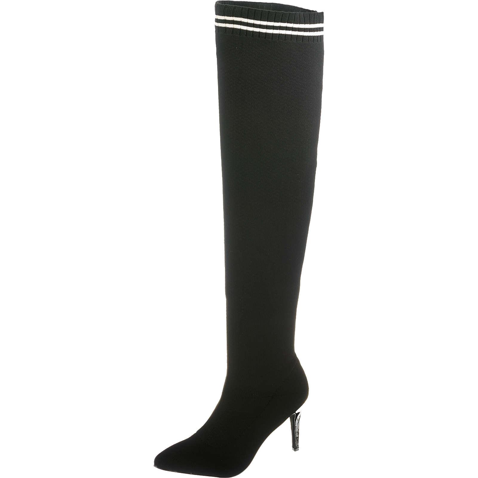 BUFFALO Overknee-Stiefel schwarz Damen Gr. 39