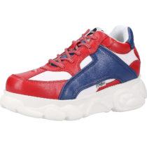 BUFFALO Sneaker Sneakers Low rot-kombi Damen Gr. 36