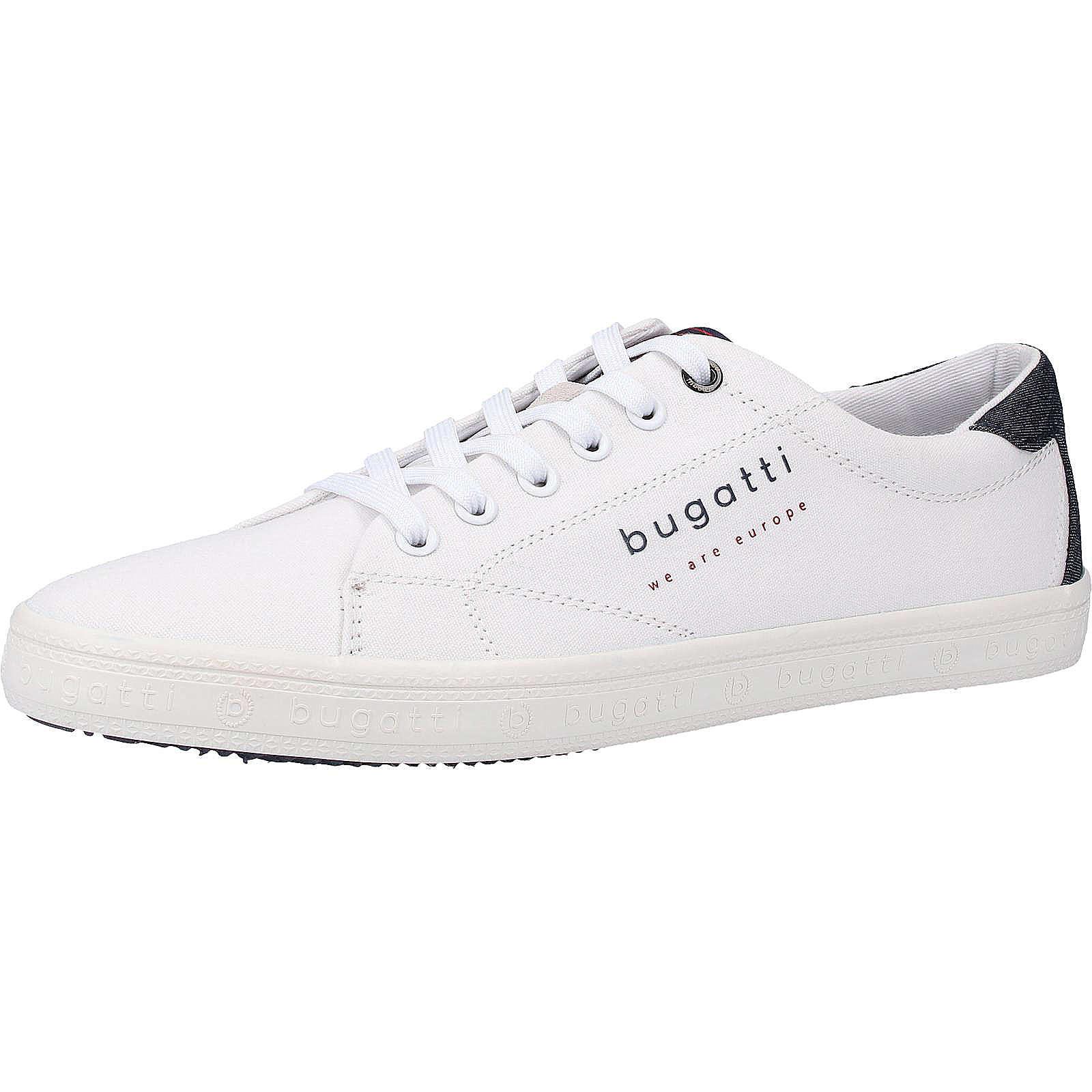 bugatti Sneaker Sneakers Low weiß Herren Gr. 44