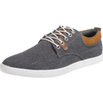 BULLBOXER Leichter Canvas Sneaker Sneakers Low grau Herren Gr. 44