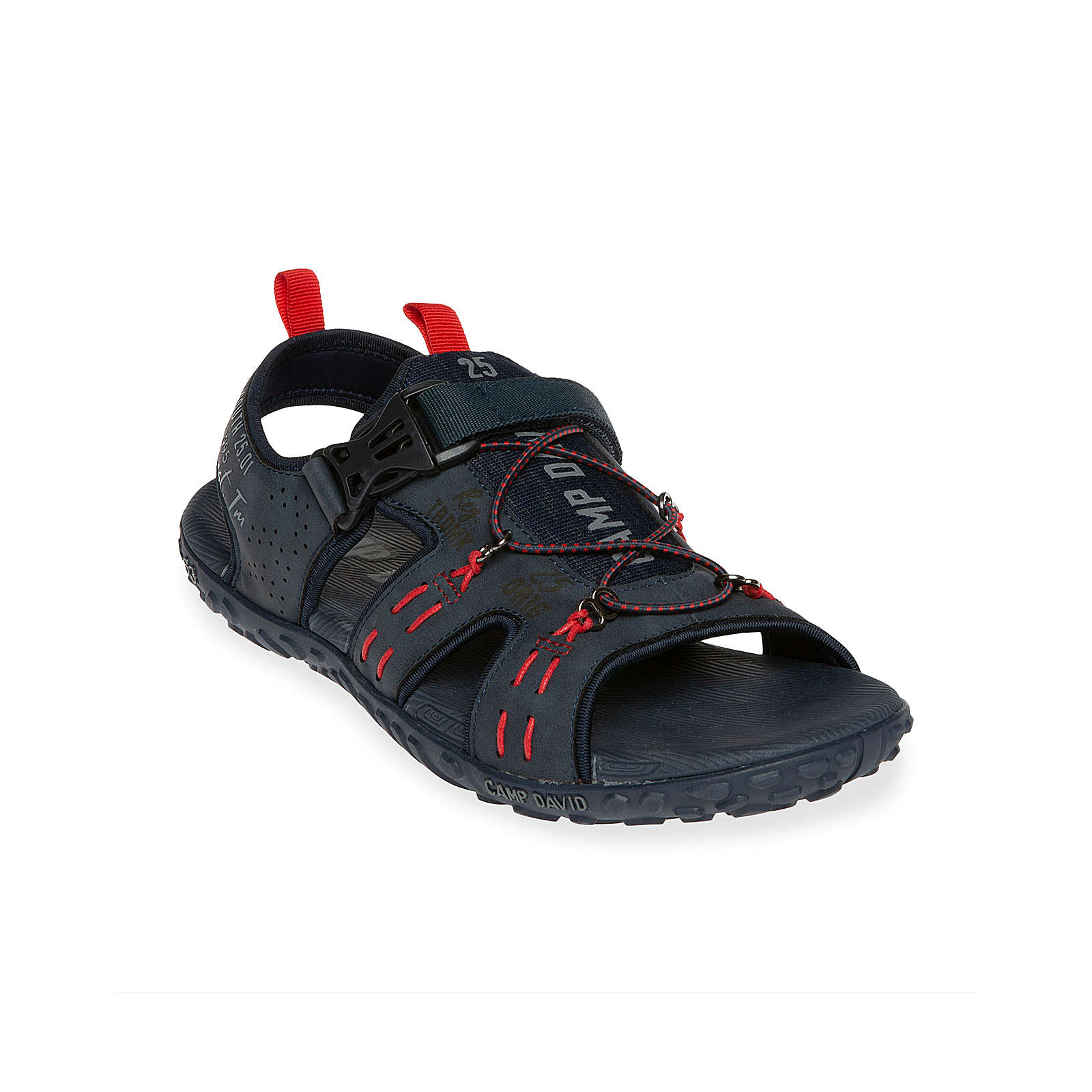 Camp David Trekking-Sandale mit Logo dunkelblau Herren Gr. 44