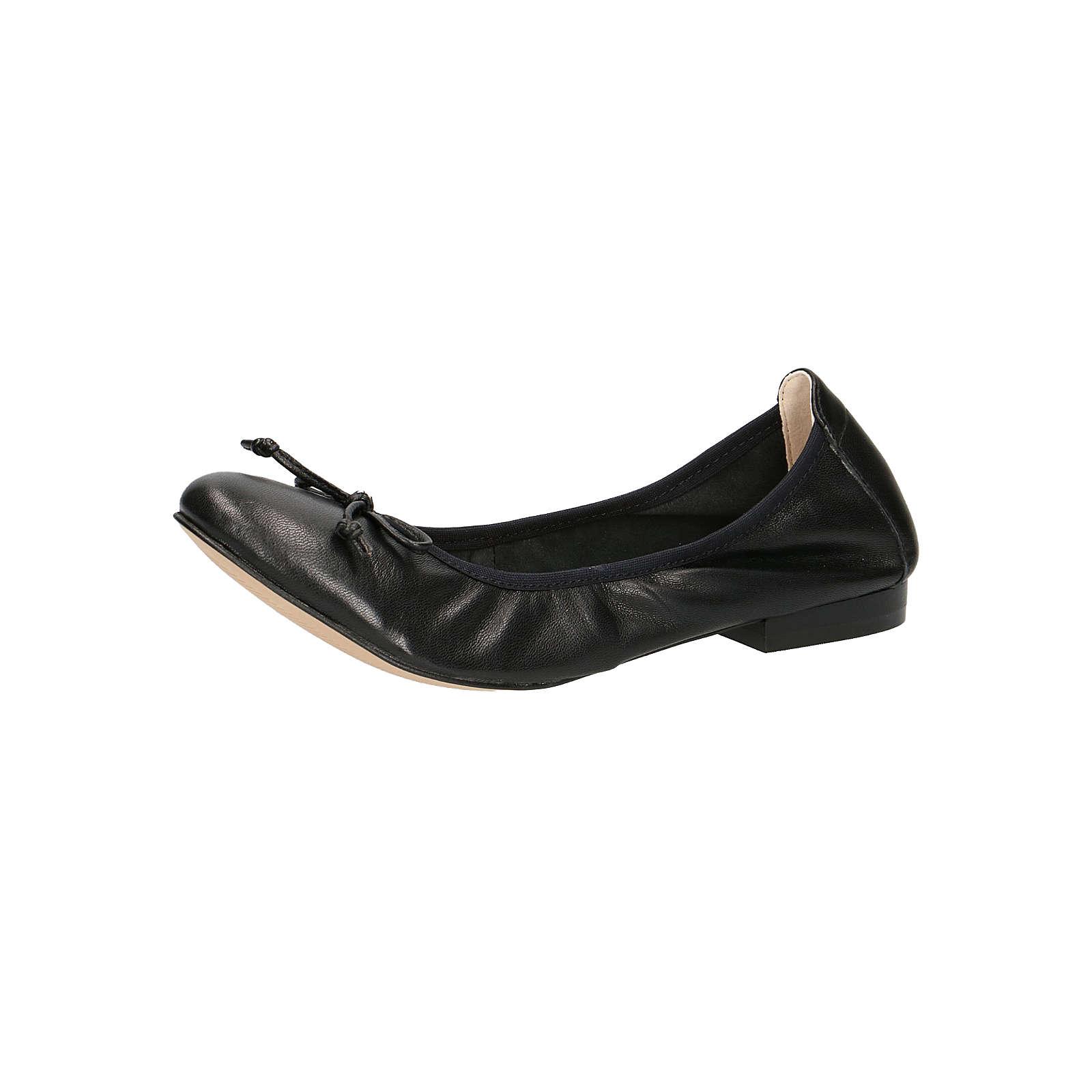 CAPRICE 9-22102-22 022 Damen Ballerina Leder Black Schwarz Klassische Ballerinas schwarz Damen Gr. 39