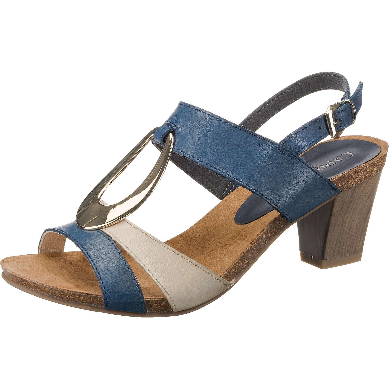 CAPRICE Klassische Sandaletten blau-kombi Damen Gr. 40,5
