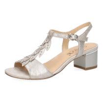 CAPRICE Klassische Sandaletten silber Damen Gr. 36