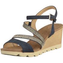 CAPRICE Sandalen Klassische Sandaletten dunkelblau Damen Gr. 40