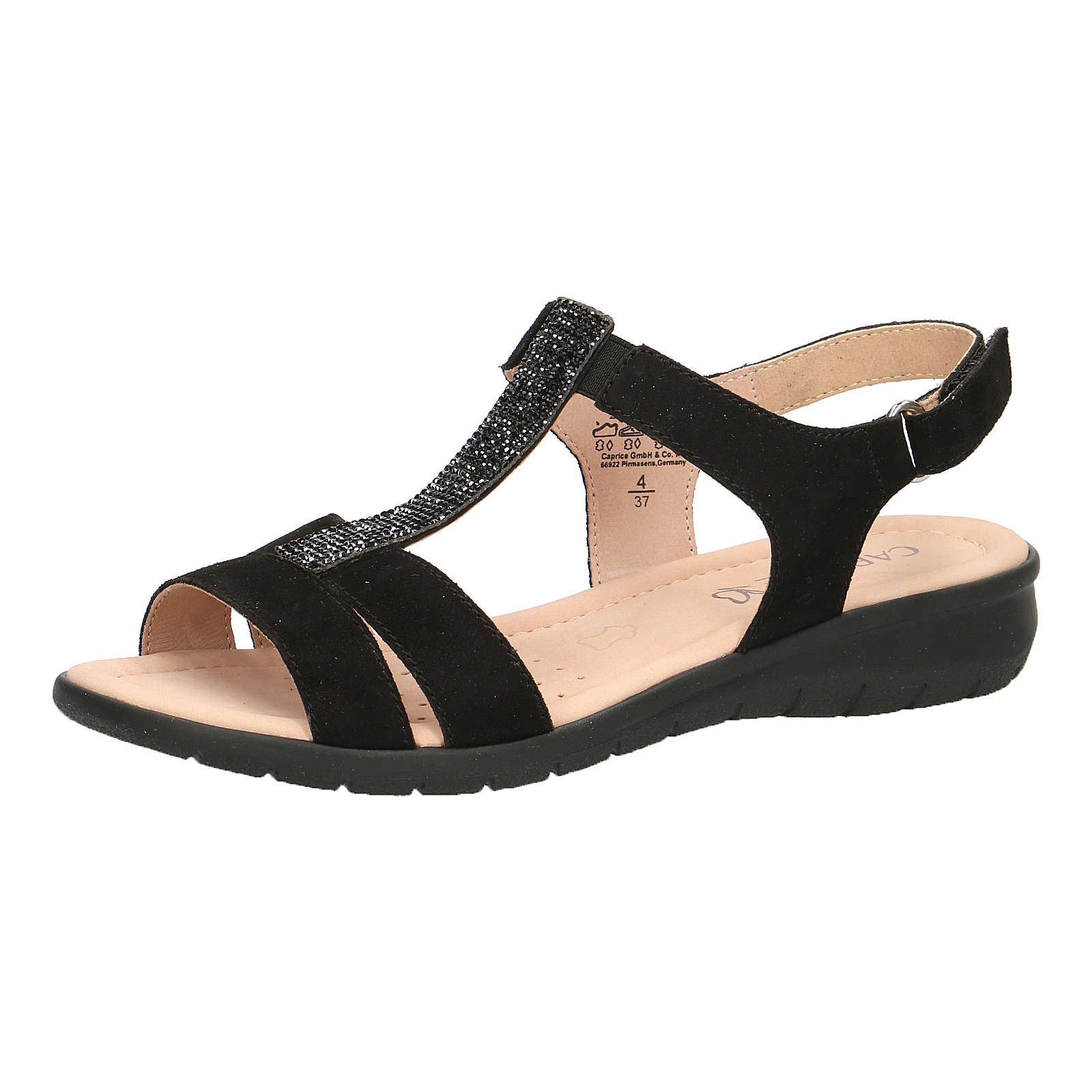 CAPRICE T-Steg-Sandalen schwarz Damen Gr. 36