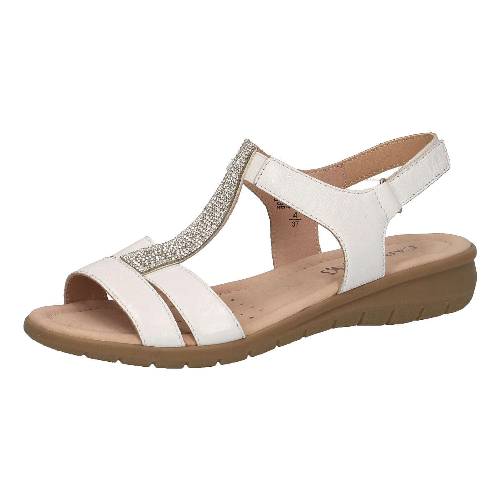 CAPRICE T-Steg-Sandalen weiß Damen Gr. 42