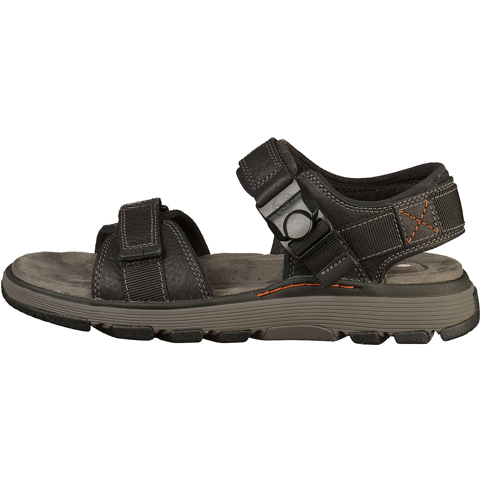 Clarks Komfort-Sandalen schwarz Herren Gr. 41,5