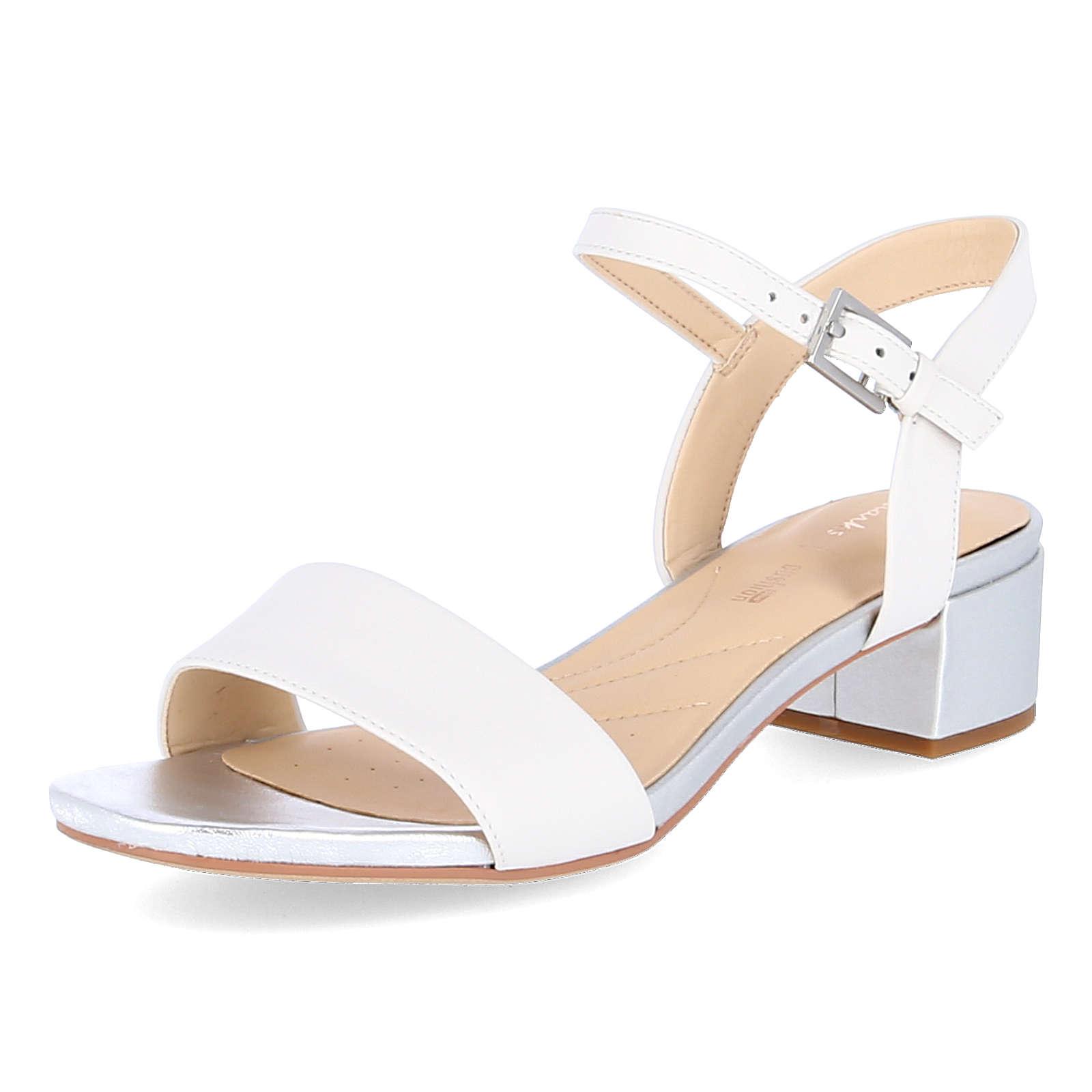 Clarks Sandaletten ORABELLA IRIS Klassische Sandaletten weiß Damen Gr. 39