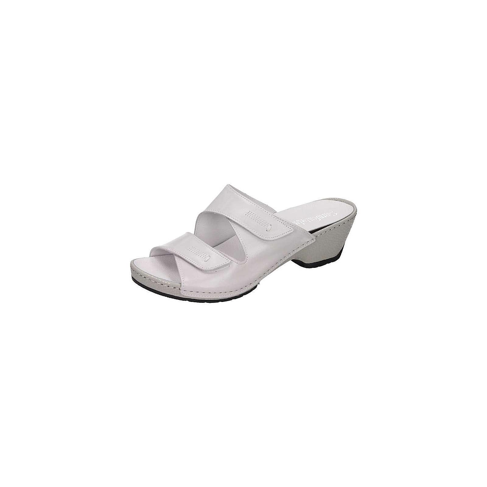 Comfortabel Damen Pantolette Komfort-Pantoletten weiß Damen Gr. 37