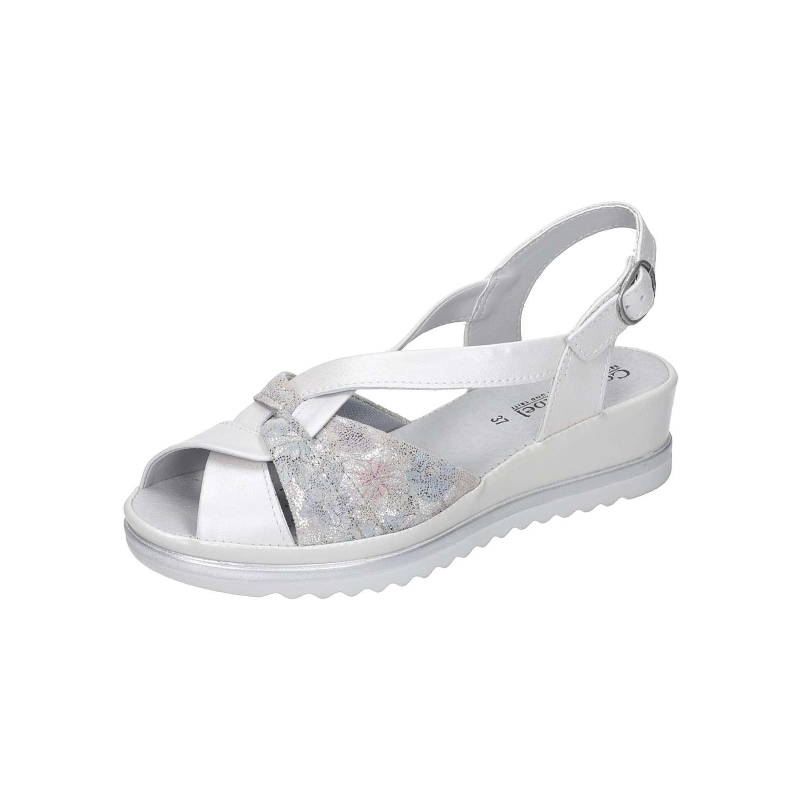 Comfortabel Damen Sandale Komfort-Sandalen weiß Damen Gr. 40