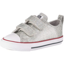 CONVERSE Baby Sneakers Low CTAS 2V OX MOUSE/ENAMEL RED/WHITE für Mädchen silber Mädchen Gr. 26