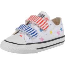 CONVERSE Baby Sneakers Low CTAS 2V OX WHITE/FIERY RED/BLACK für Mädchen, Sterne weiß Mädchen Gr. 26