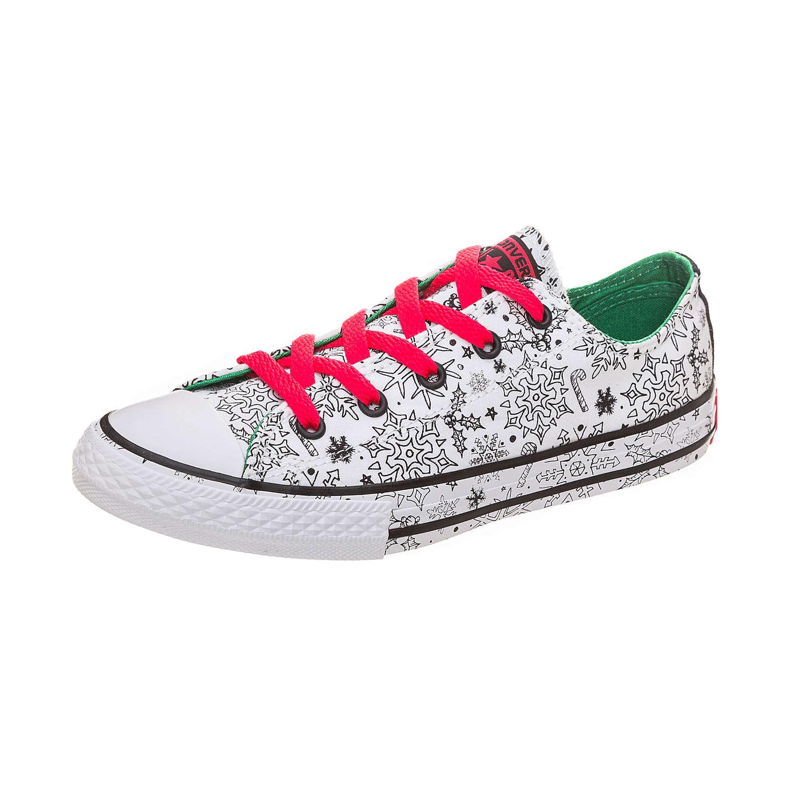 CONVERSE Kinder Sneakers Low mit Schnürverschluss weiß Gr. 31