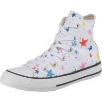 CONVERSE Sneakers High CTAS HI WHITE/FIERY RED/BLACK für Mädchen, Sterne weiß Mädchen Gr. 32
