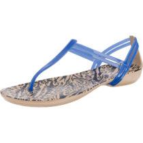 Crocs Isabella Graphic T-strap T-Steg-Sandalen blau-kombi Damen Gr. 42/43