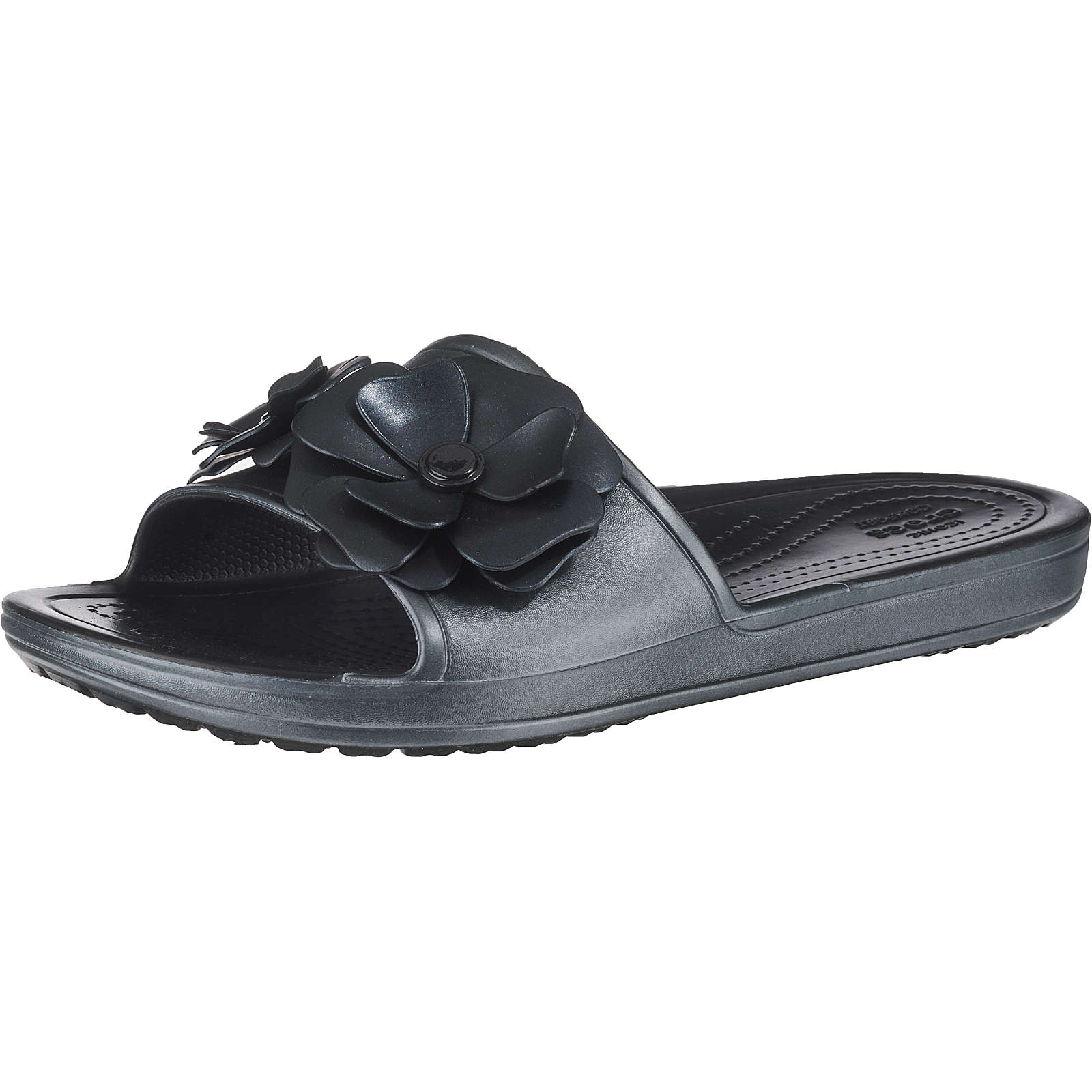 Crocs Sloane VividBlooms Sld W Blk/Blk Komfort-Pantoletten schwarz Damen Gr. 41/42