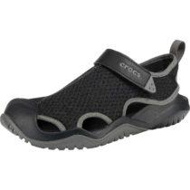CROCS Swiftwater Mesh Deck Sandal M Blk Komfort-Sandalen schwarz Herren Gr. 43/44